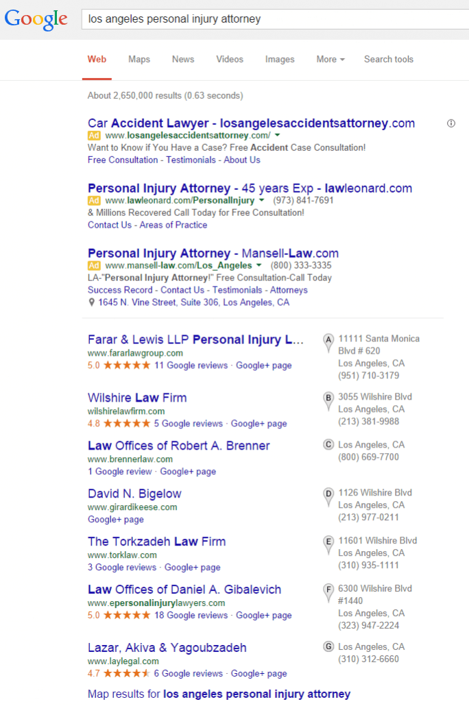 los angeles personal injury attorney Google Search