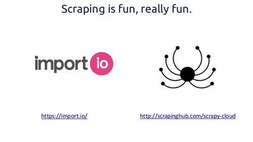 Padės įrankiai Import.io ir Scrappinghub.com