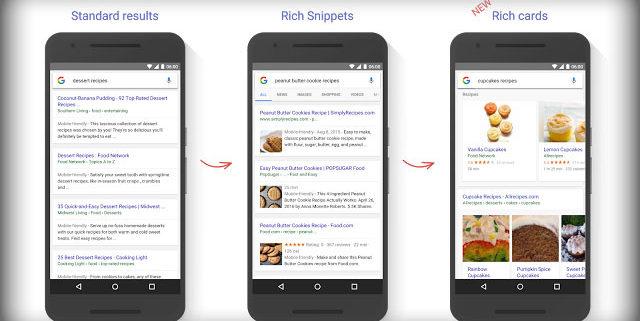 """""""Google"""" pristatė naują paieškos rezultatų formatą – """"Rich Cards"""""""